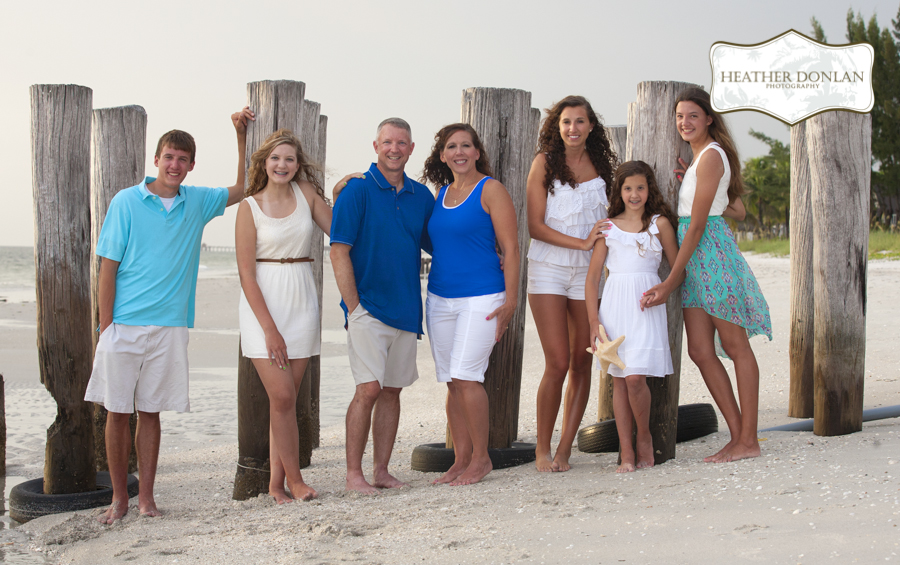 #432 One Family, Five Different Ways {Family Beach Portraits, Naples Florida}